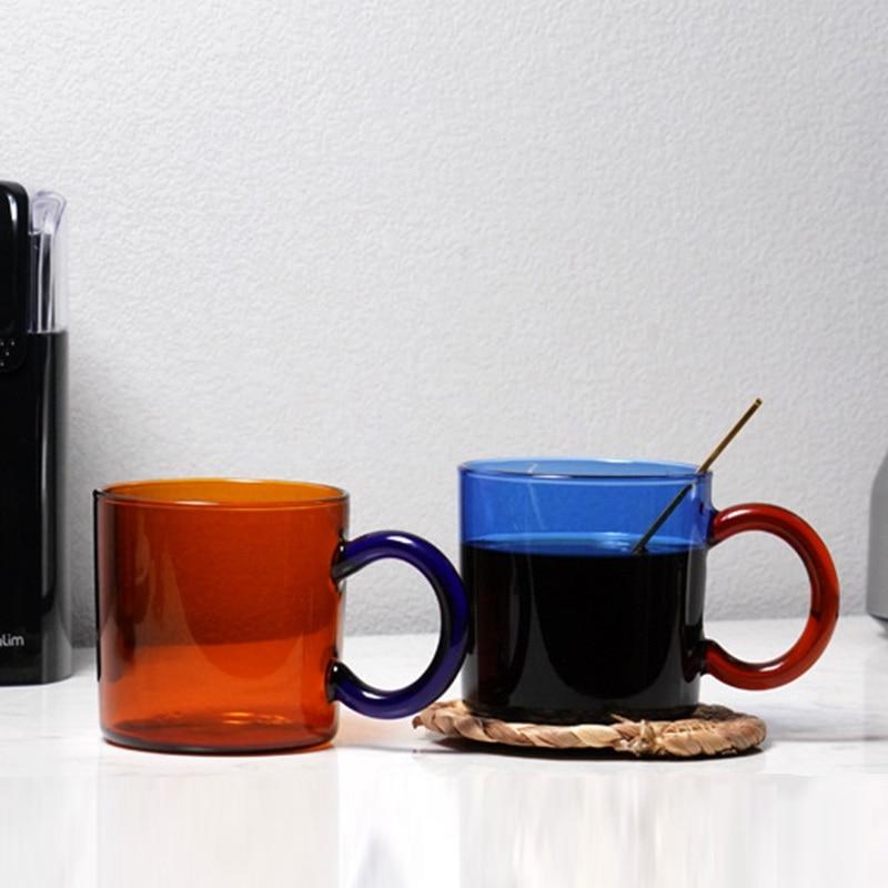 high borosilicate glass mug